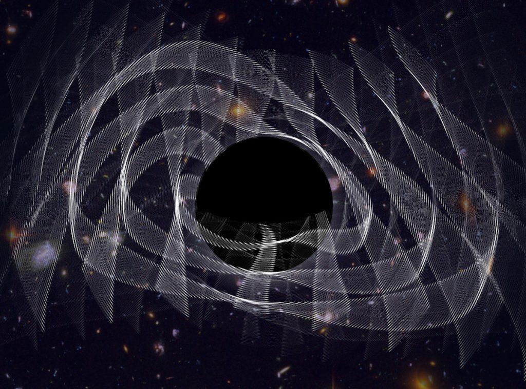 Gravitational waves can reveal black holes in dark dresses