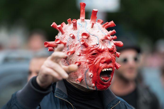 A protester in Berlin.  (08/28/2021)