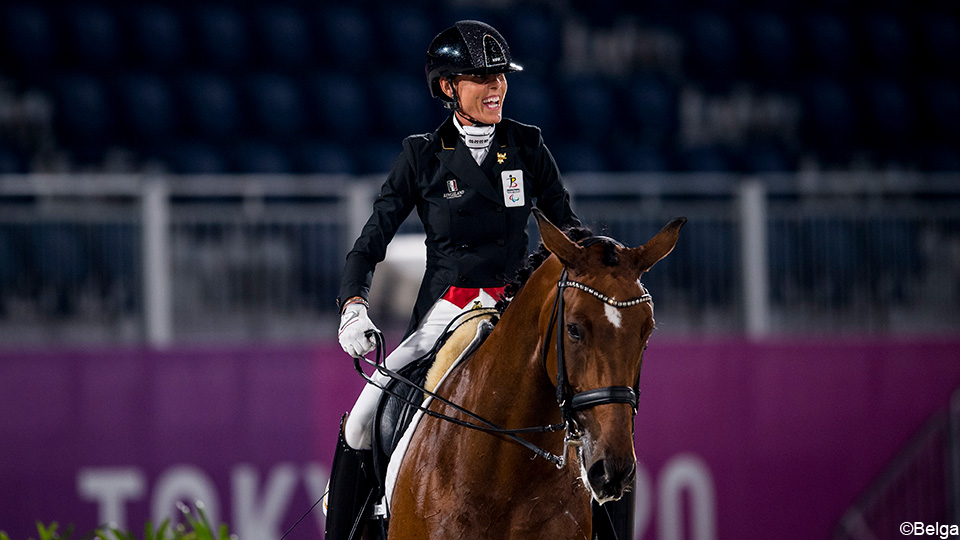 Partial dressage: Belgium finished fifth and big point shorter than medals    Games for people with special needs