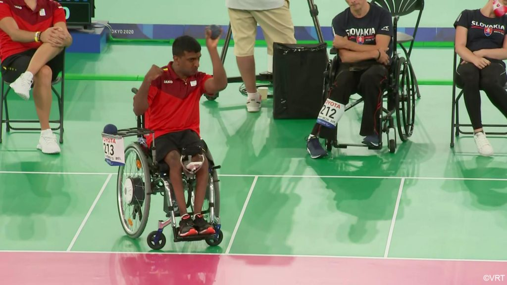 Boccia Rombouts player convincingly wins the last match but is disqualified    Games for people with special needs