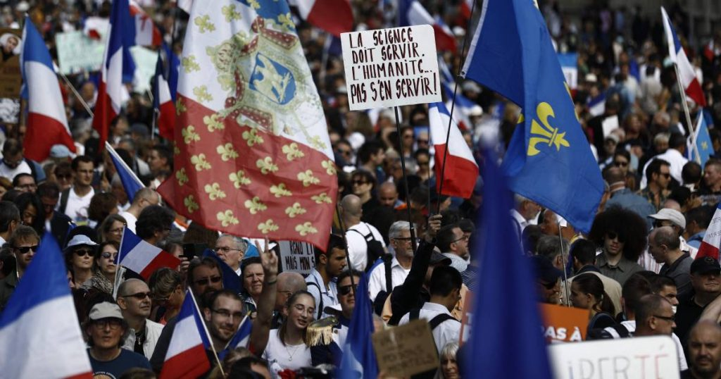 Tens of thousands demonstrate in France against Corona rules, including thousands of demonstrators in Berlin abroad