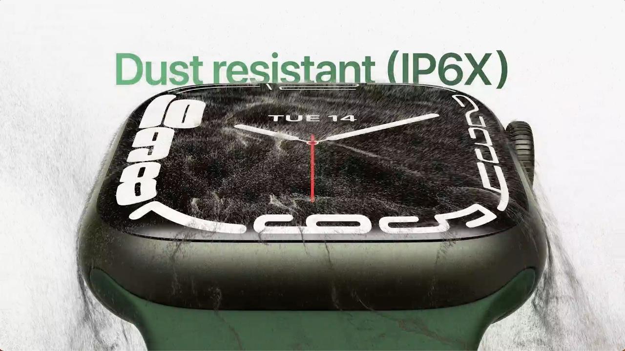 Apple Watch Series 7 is dust-resistant
