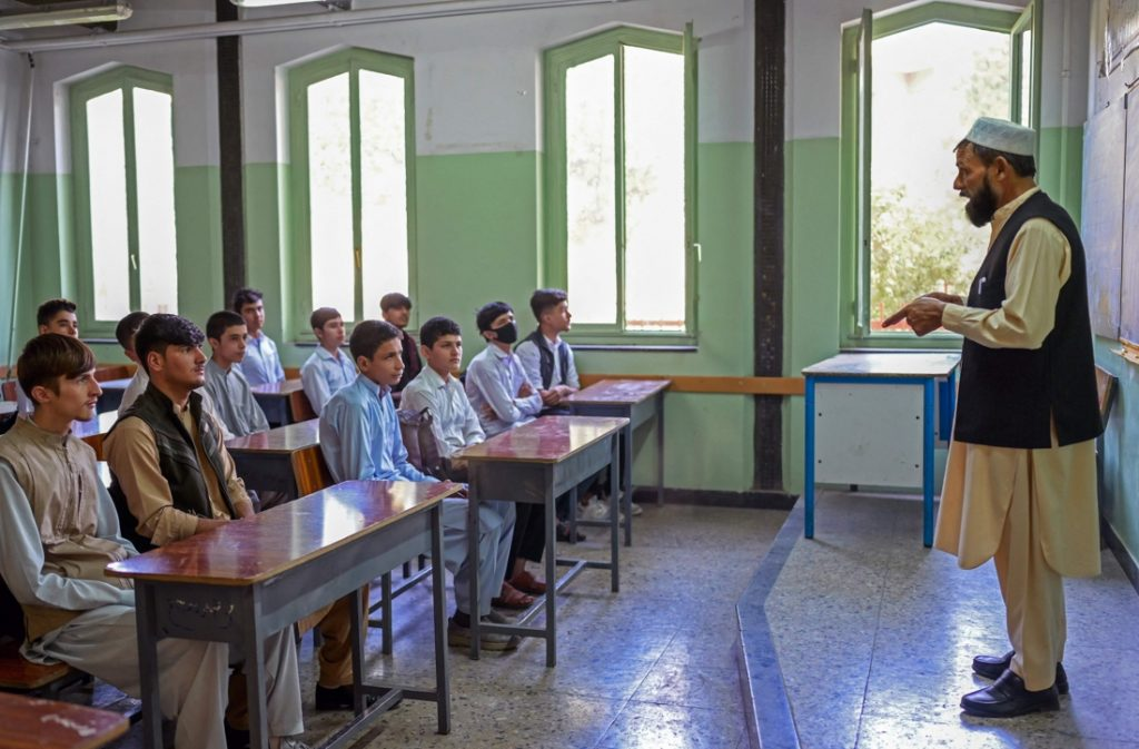 Taliban opens Afghan high schools to youngsters only