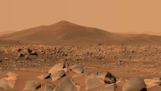 An image of the planet Mars captured by another Mars probe, the Perseverance.