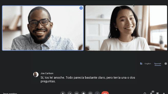 Google Meet ترجمة Translate