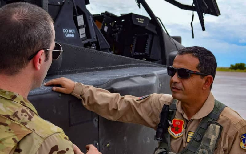 Moroccan fighter pilots in training in the United States