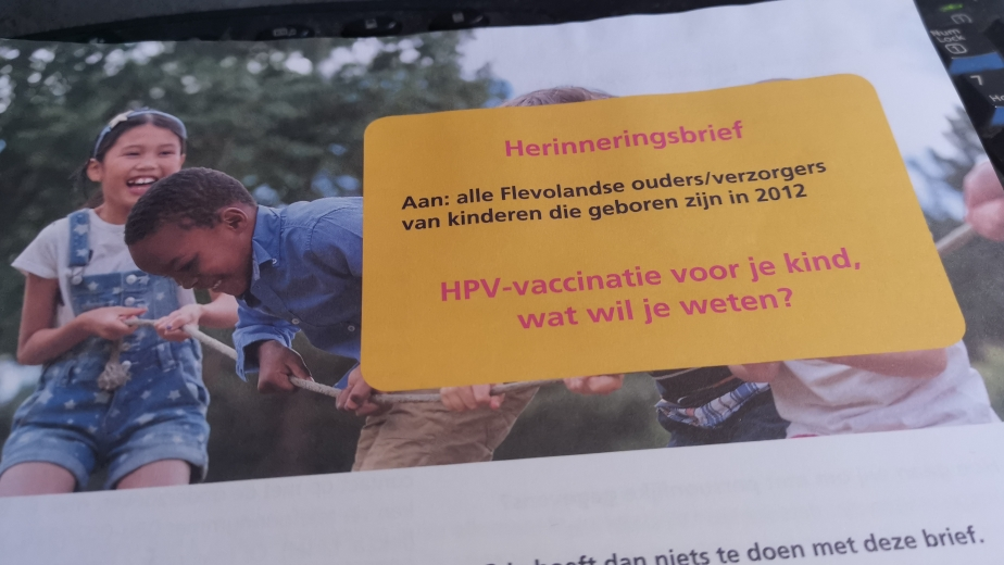 Omroep Flevoland - News - GGD asks parents of 9-year-olds for an opinion on HPV vaccination