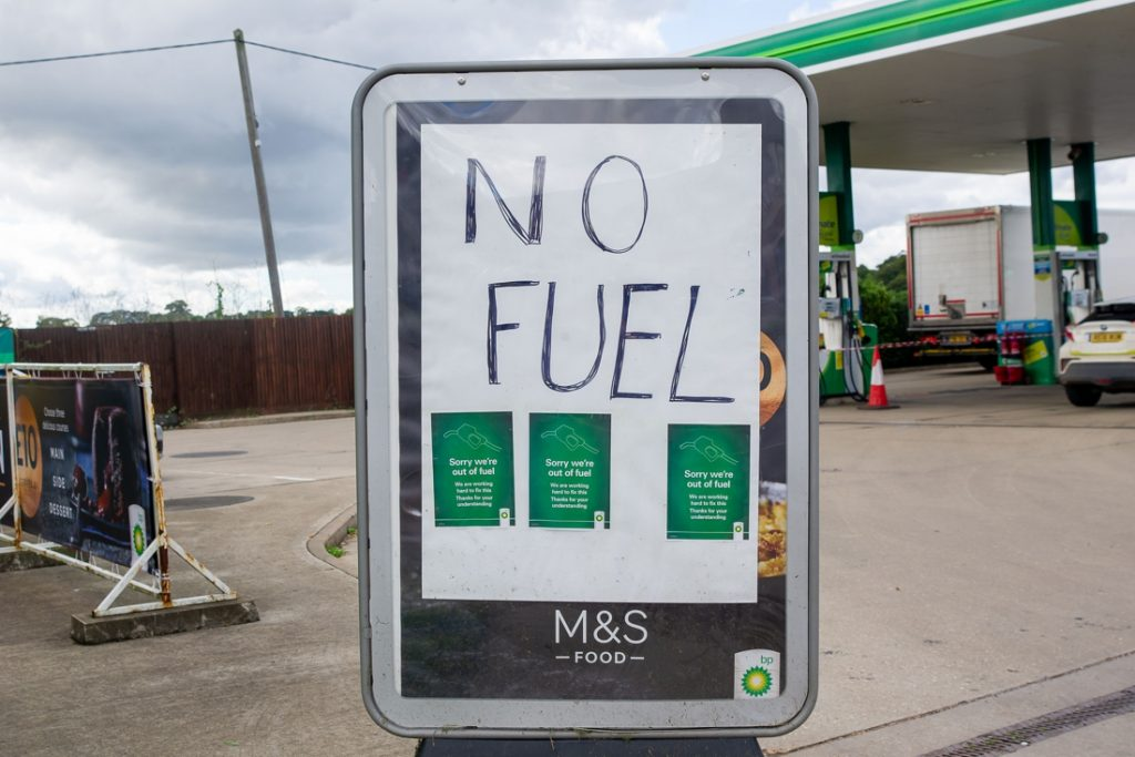 British minister: The fuel crisis shows great dependence on...