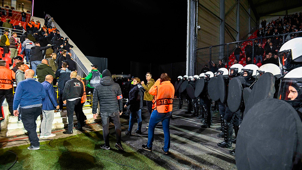 """""""Antwerp fans are always exploring the limits, and a minority are constantly pushing it."""" 