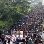 The new immigrant caravan moves to the United States